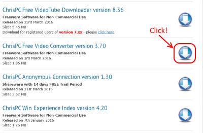ChrisPC Free Video Converter ダウンロード