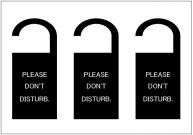 Please_dont_disturbのドアノブサインテンプレート・フォーマット・雛形