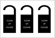 CLEAN_UP_PLEASEのドアノブサインテンプレート・フォーマット・雛形