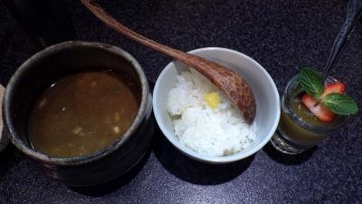 烈志笑魚油 麺香房 三く つけ全粒粉(締めご飯&デザート)