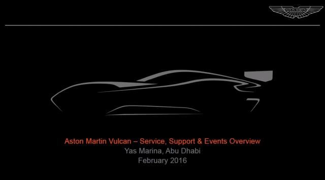 Aston Martin Vulcan – Service, Support Events Overview (1)