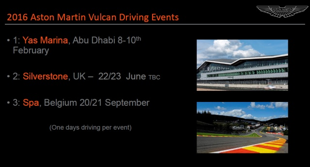 Aston Martin Vulcan – Service, Support Events Overview (2)