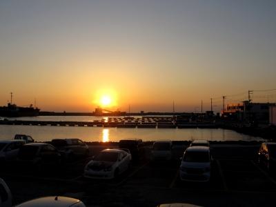 保田漁港の夕景