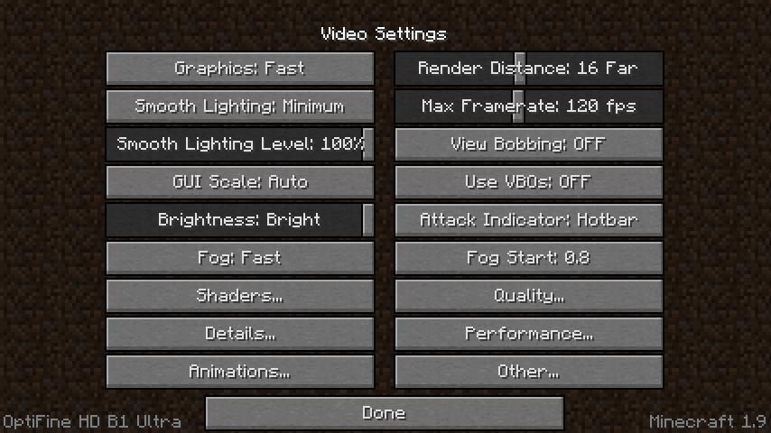 minecraft 1-9 OptiFine-5