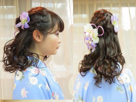 目黒雅叙園、品川プリンスホテルで卒業式y謝恩会に出席されるお客様のヘアメイク着付をしました