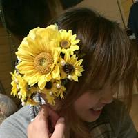 向日葵の髪飾り