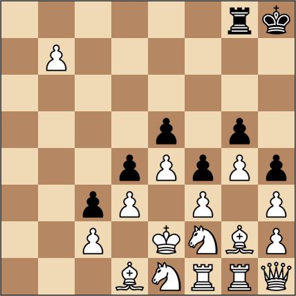 8段目に進んだ駒を取れるようにルークを配置