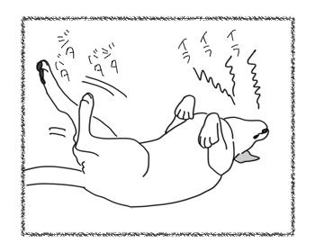 羊の国のラブラドール絵日記シニア!!「耐える俺様」3