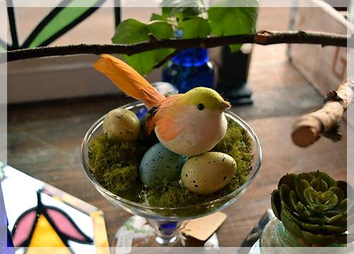 小鳥のオブジェ