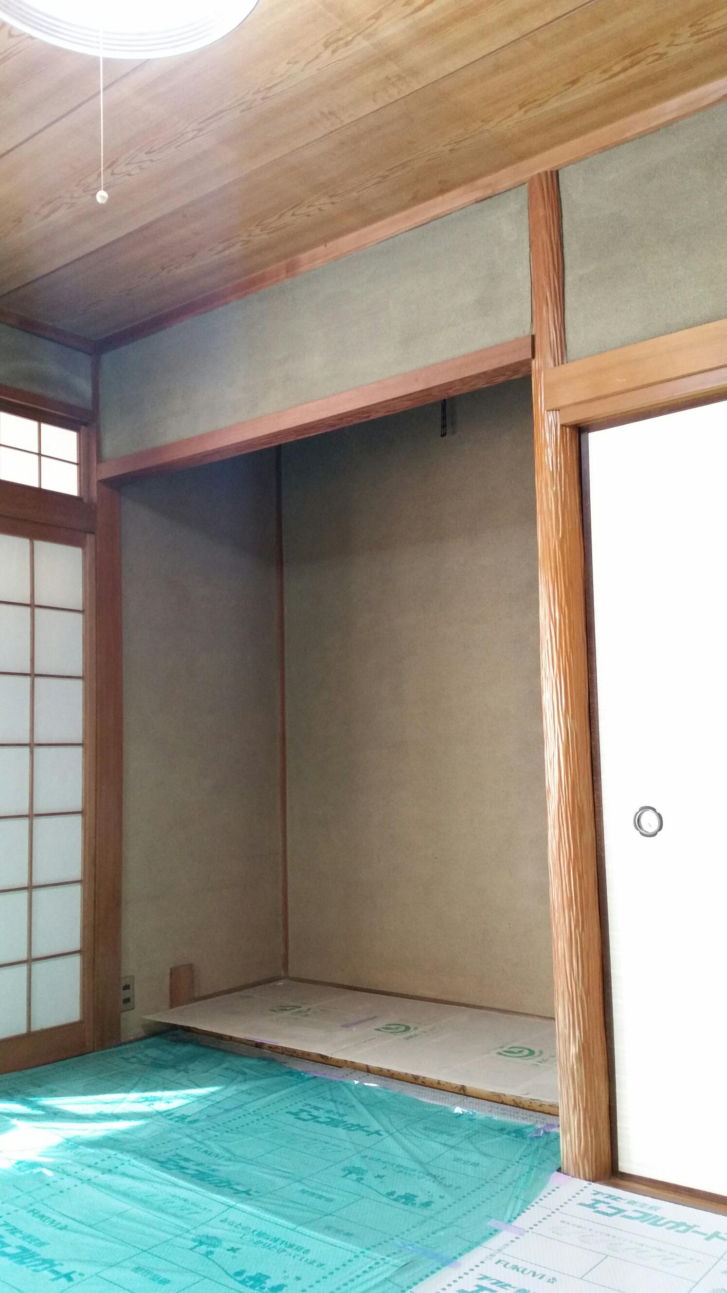 岡山の壁紙張替え職人 インテリアすずま 和室クロス張り