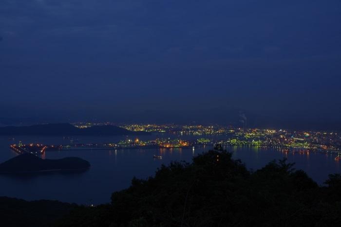 太華山より徳山夜景