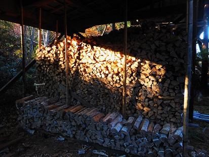 ⑥20151112安曇野薪の蓄え