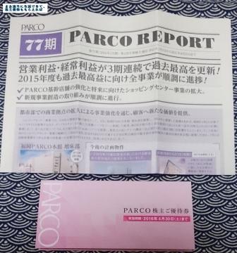 パルコ パルコ株主ご優待券2000円相当 201508