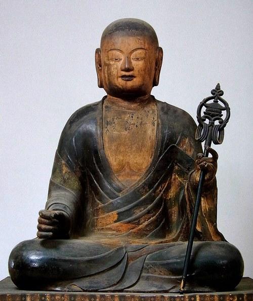 東寺・八幡三神像~僧形像