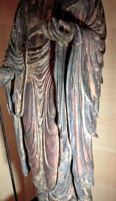 浄山寺・地蔵菩薩立像~衣文の造形