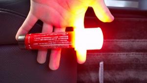 LED発煙筒点灯