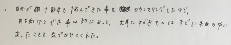 s-カウンセリングの感想 (1)