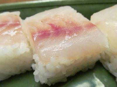 アマダイの箱寿司緑アップ2