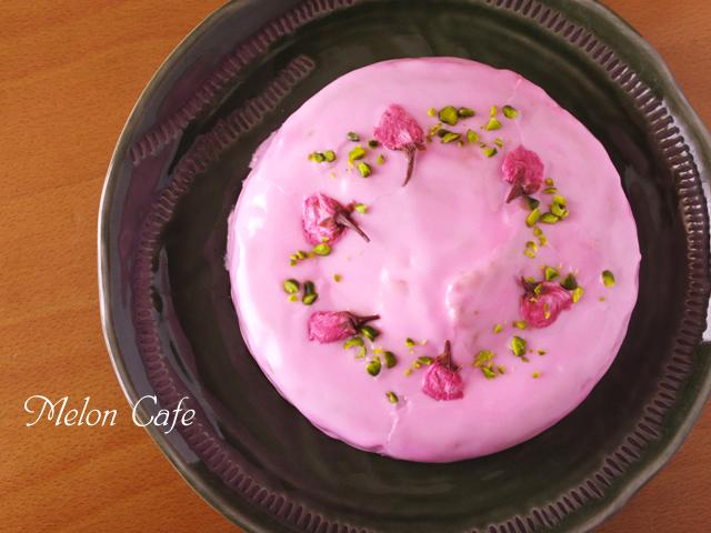 桜のお花見ケーキ