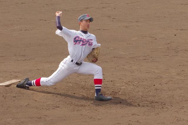 High school young baseball player 2