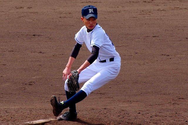 High school young baseball player 1