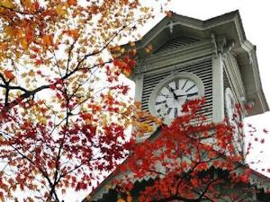 秋の時計台
