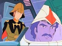 シムス中尉とシャリア・ブル大尉