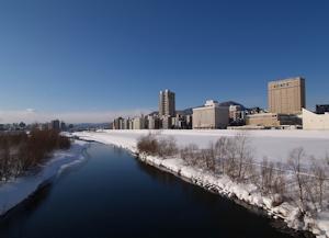 冬の豊平川