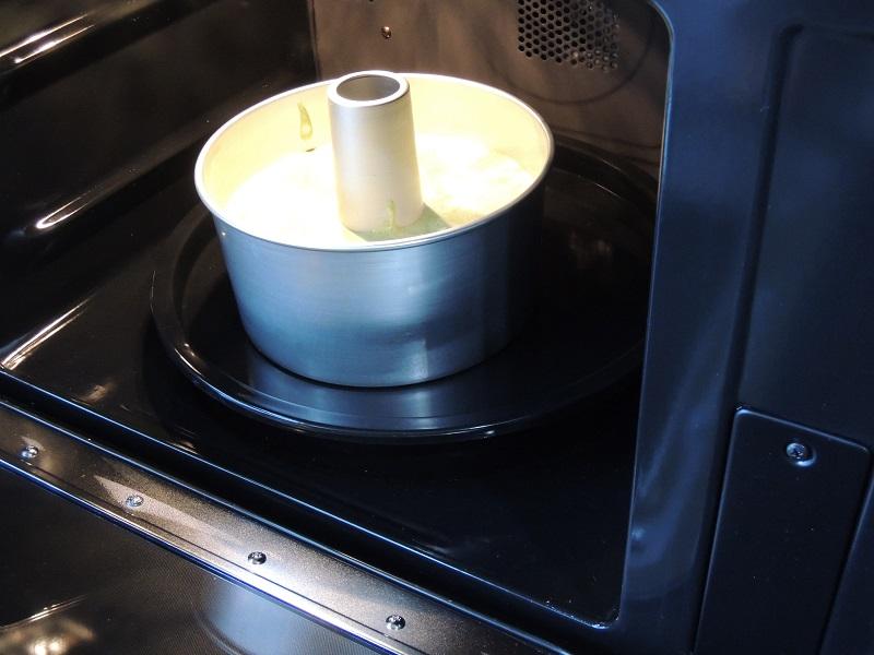 抹茶シフォンケーキ作り その4