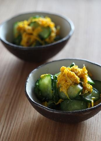 菊ときゅうりの酢の物