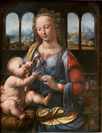 『カーネーションの聖母』 レオナルド・ダ・ヴィンチ