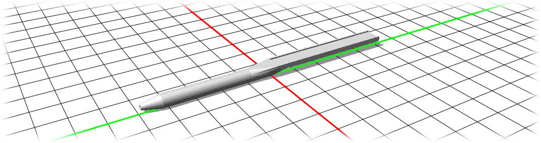 磁石ペンの3Dモデリング風景