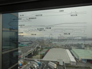 阪神高速道路湾岸線泉大津PA海側
