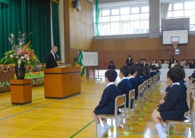 杜の里小育友会森野新会長の歓迎の挨拶