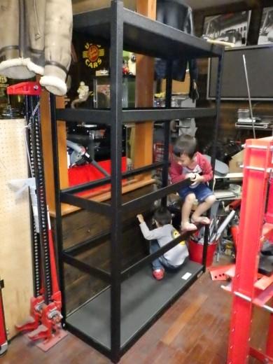 ガレージ棚設置 (6)