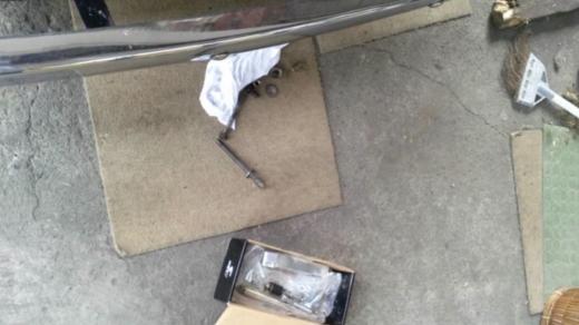 オルタブラケット修理 (1)