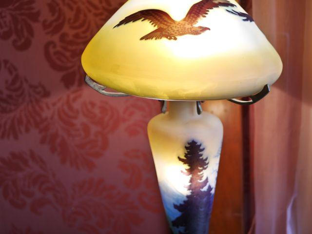 母のガレのランプ