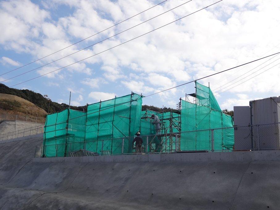 M邸基礎工事中~足場仮設 完了