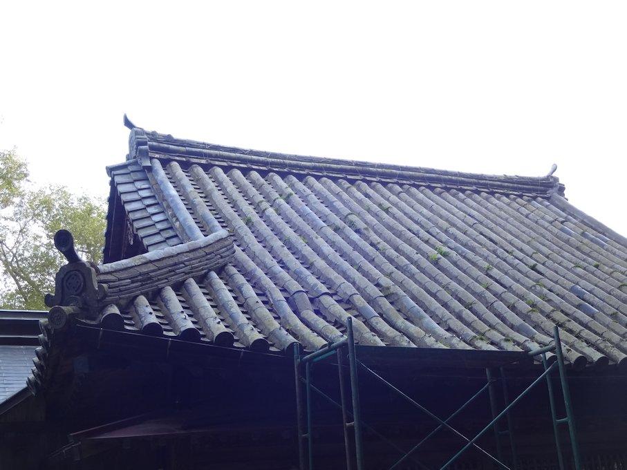 神社屋根補修