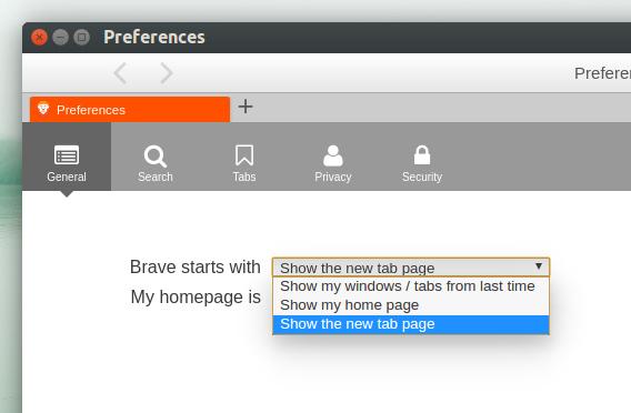 Brave Ubuntu ブラウザ 設定