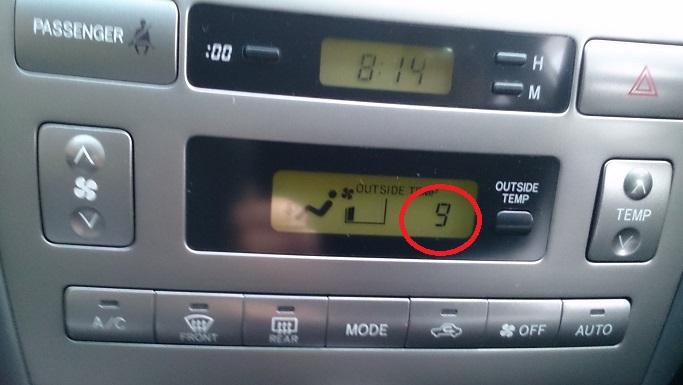 平成27年10月29日最低気温